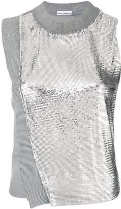 Paco Rabanne metallic mesh tank