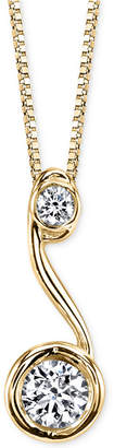Sirena Diamond Drop Pendant Necklace (1/5 ct. t.w.) in 14k Gold