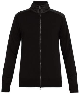 Belstaff Kelby Zip Through Wool Sweater - Mens - Black