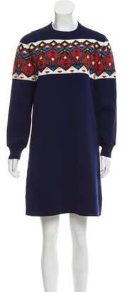 Louis Vuitton Abstract Wool-Blend Dress