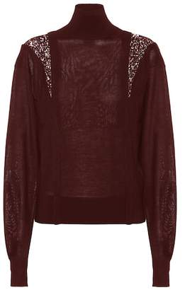 Chloé Wool and silk turtleneck sweater