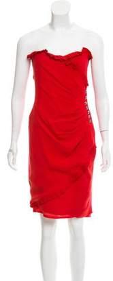Azzaro Embellished Silk Cocktail Dress