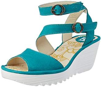 Fly London Women's Yisk837Fly Ankle Strap Sandals,42 EU