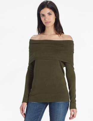 Lucky Brand OFF THE SHOULDER FOLD OVER SWEATER