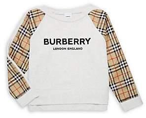 Burberry Women's Little Girl's & Girl's KG5 Esther Logo & Tartan Sweatshirt