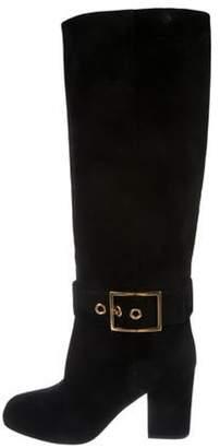 Gucci Suede Square-Toe Boots Black Suede Square-Toe Boots