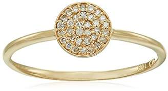 10k Gold Diamond Pave Disc Ring (1/10cttw
