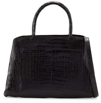 Nancy Gonzalez Crocodile Large Center-Zip Tote Bag