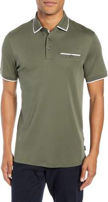 Ted Baker Jelly Slim Fit Tipped Pocket Polo