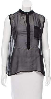 Adam Sleeveless Silk Top