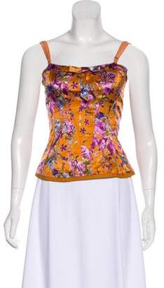 Dolce & Gabbana Sleeveless Floral Print Top