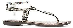 Sam Edelman Women's Geena Snake Print Leather Gladiator Sandals
