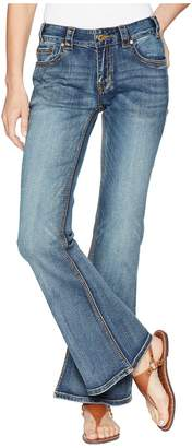 Rock and Roll Cowgirl Mid-Rise Flare in Medium Vintage W1F6662 Women's Jeans