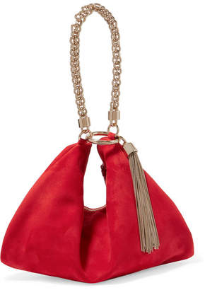 Jimmy Choo Callie Suede Shoulder Bag - Red
