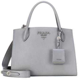 37179c5c77fc at mytheresa · Prada Monochrome leather shoulder bag