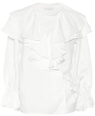 Rejina Pyo Camila linen-blend blouse