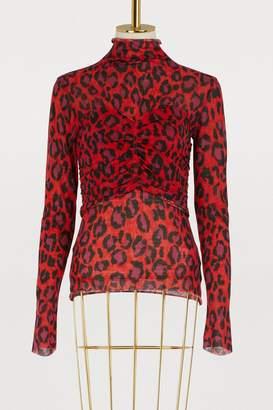 Kenzo Wool leopard top