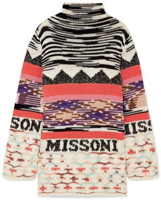 Missoni Intarsia Wool-blend Mini Dress