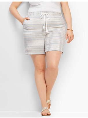 "Talbots 7"" Stripe Linen Short"