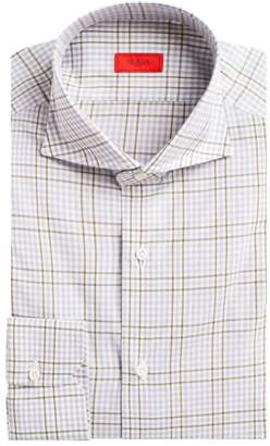 Isaia Contemporary-Fit Plaid Dress Shirt