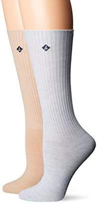 Sperry Women's 2 Pack Boyfriend Crew Socks