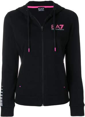 Ea7 Emporio Armani hooded logo track top