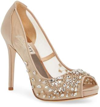Badgley Mischka Collection Pepper Peep Toe Pump