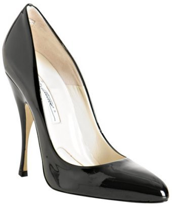 Brian Atwood black patent leather 'Starlet' pumps