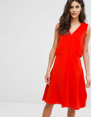 Reiss Stellie Ruffle Shoulder Dress