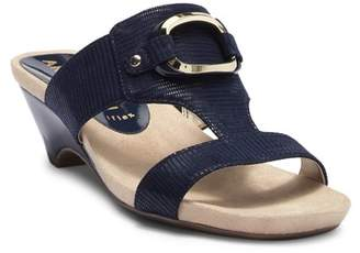 Anne Klein Teela Lizard Embossed Wedge Sandal