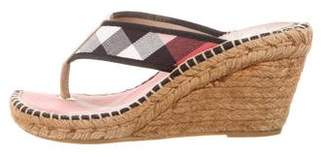 Burberry Nova Check Wedge Sandals