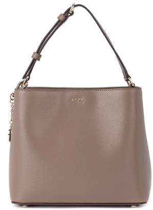 DKNY Bryant Sand Leather Bucket Bag