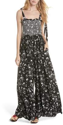 Free People Color My World Floral Jumpsuit