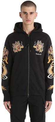 MHI Dragon Embroidered Zip Jersey Sweatshirt