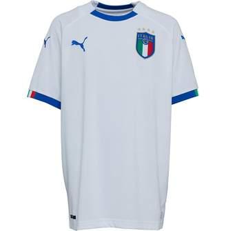 Puma Junior Boys FIGC Italy Away Shirt White/Power Blue