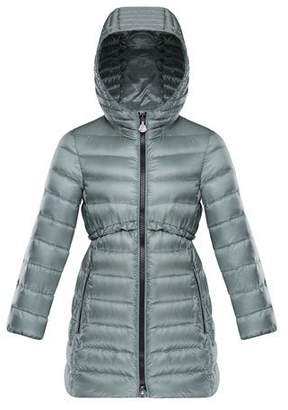 Moncler Quilted Ruffle-Trim Hooded Jacket, Size 8-14
