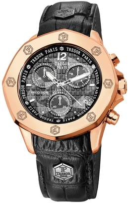 Mozafarian Rose Gold Plated Chronograph Watch
