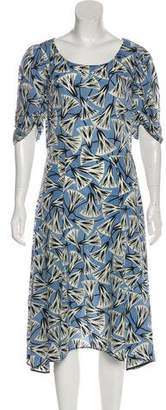Prada Short Sleeve Midi Dress