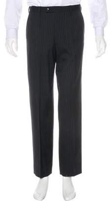 Dolce & Gabbana Striped Virgin Wool Dress Pants