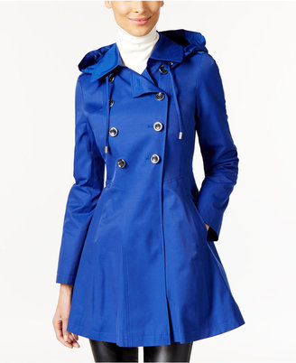 Via Spiga Skirted Hooded Raincoat $180 thestylecure.com