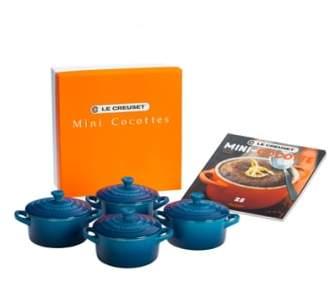 Le Creuset Four Mini Cocottes with Cookbook