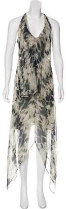 Robert Rodriguez Sleeveless Silk Maxi Dress