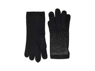 Calvin Klein Ombre Crystal Studded Gloves