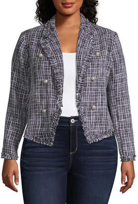 WORTHINGTON Worthington Boucle Jacket - Plus