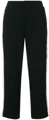 Steffen Schraut fringe trim cropped trousers