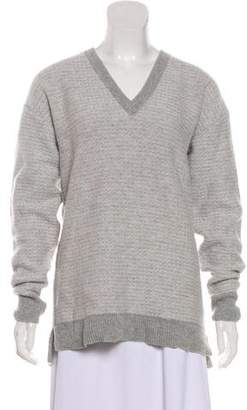 Belstaff Virgin Wool V-Neck Sweater