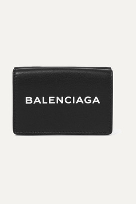 Balenciaga Printed Textured-leather Wallet - Black