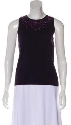 Magaschoni Beaded Knit Top