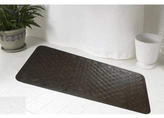 Carnation Home Fashions Small (13'' x 20'') Slip-Resistant Rubber Bath Tub Mat in Brown