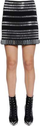 David Koma Embellished Cady Skirt